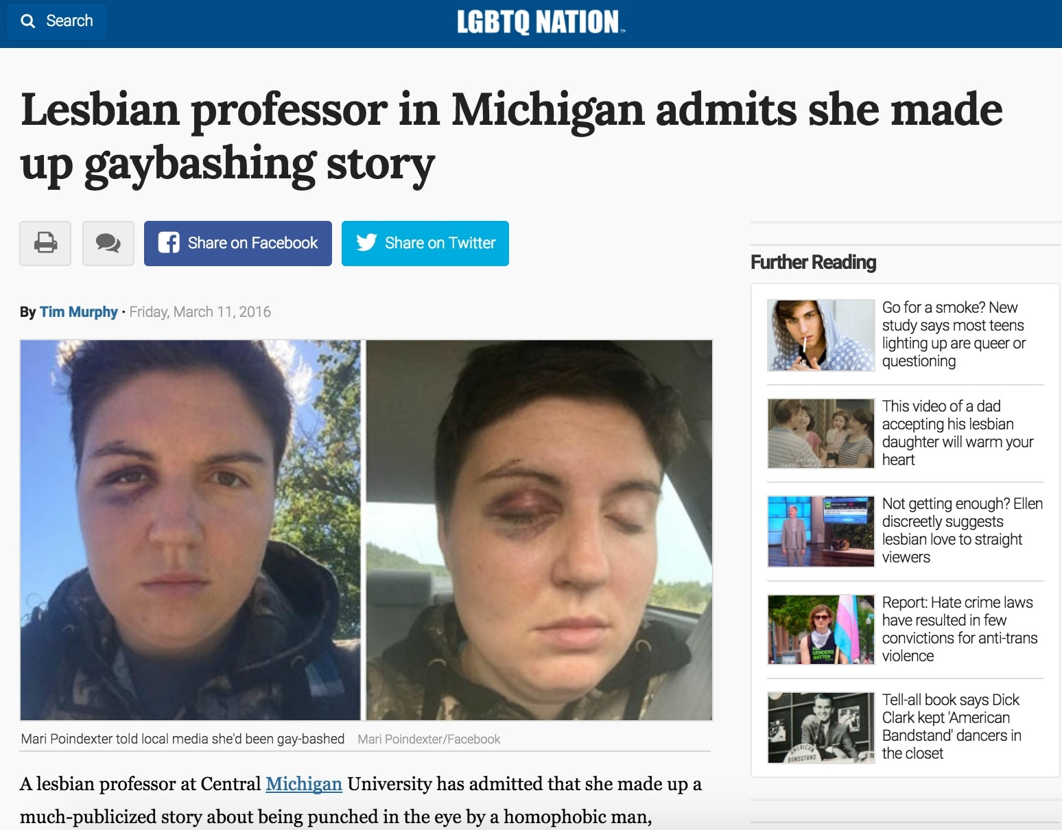 Michigan gay attacks