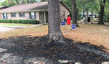 2016.10.15 – AR: Woman finds Trump signs burned; arson investigation underway