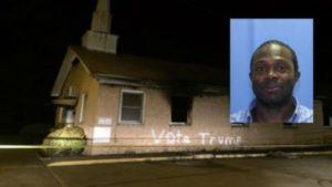 "2016.11.01 – MS: African-American Congregant Burns Down Own Church – ""A Burned Down Black Church Shows Trump Wouldn't Condemn His Own Terrorists"""